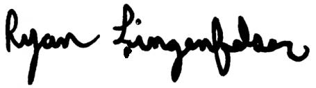 Ryan Lingenfelser Signature