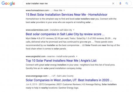 Solar Installer Near Me 1st Page SERP Linkbuilding